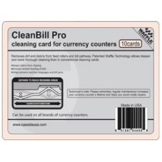 Cleaning card for currency counters Box of 10